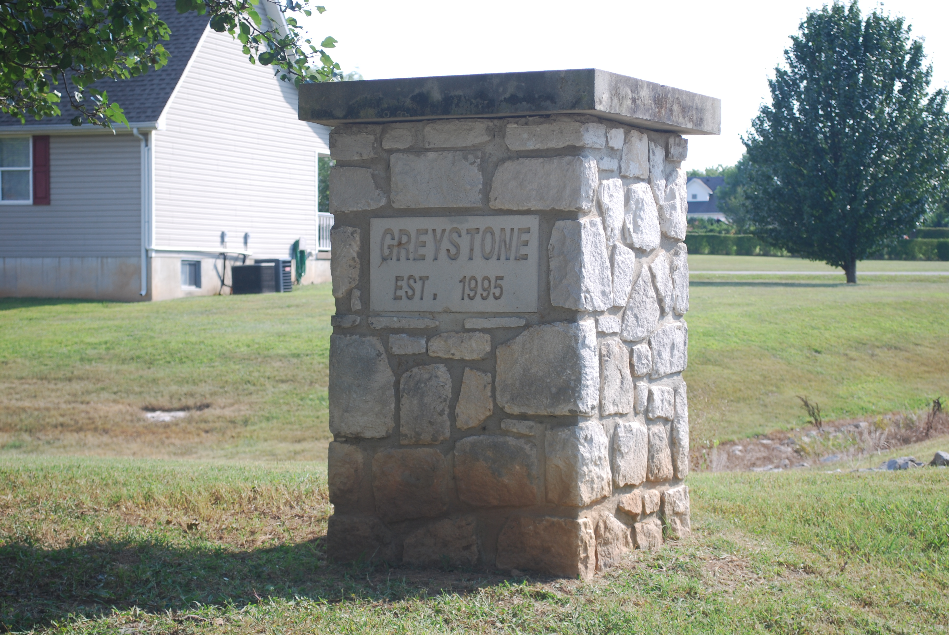 Greystone entrance sign in Bowling Green KY