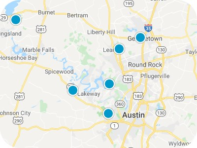 Greater Central Texas Real Estate Map Search