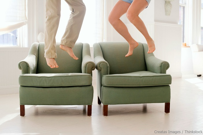 Jumping for joy because of Charleston Furniture Stores