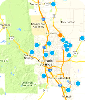 Homes In Colorado Springs For Sale Realtors In Colorado Springs CO - Colorado springs on us map