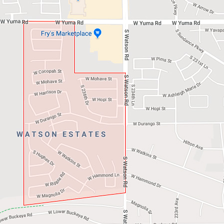 Map of Watson Estates