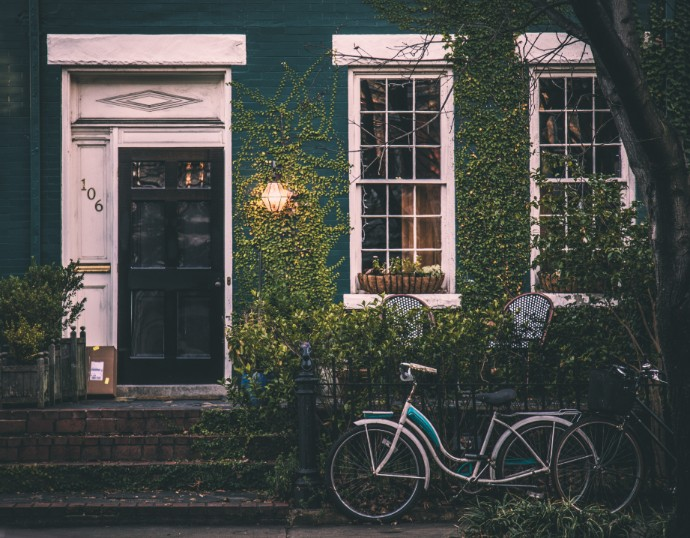 home and bicycle