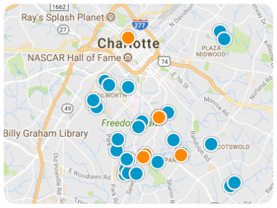 South Charlotte Real Estate Map Search