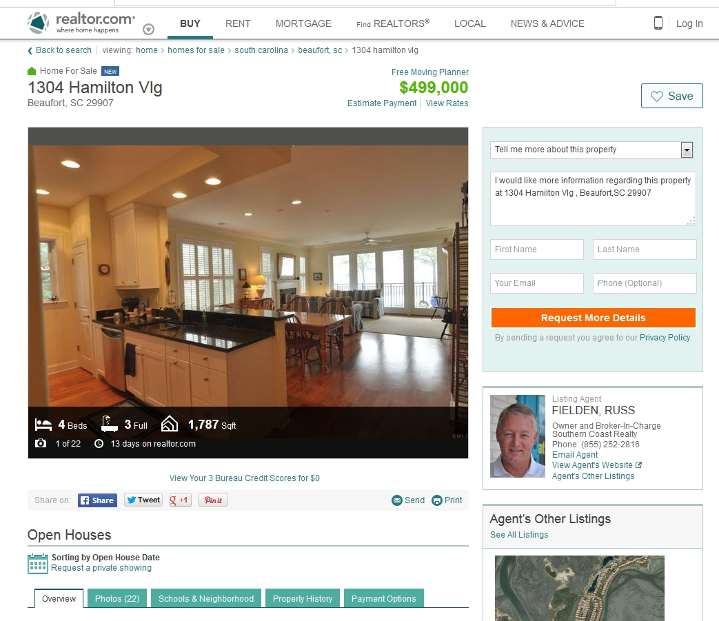 Ladys Island Beaufort SC waterfront Condo for sale