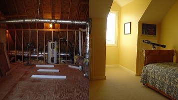 painting and enlarging beach cottage