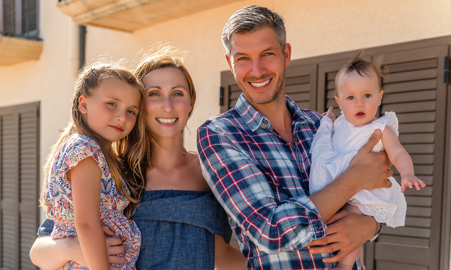 young family renting a home in Albuquerque