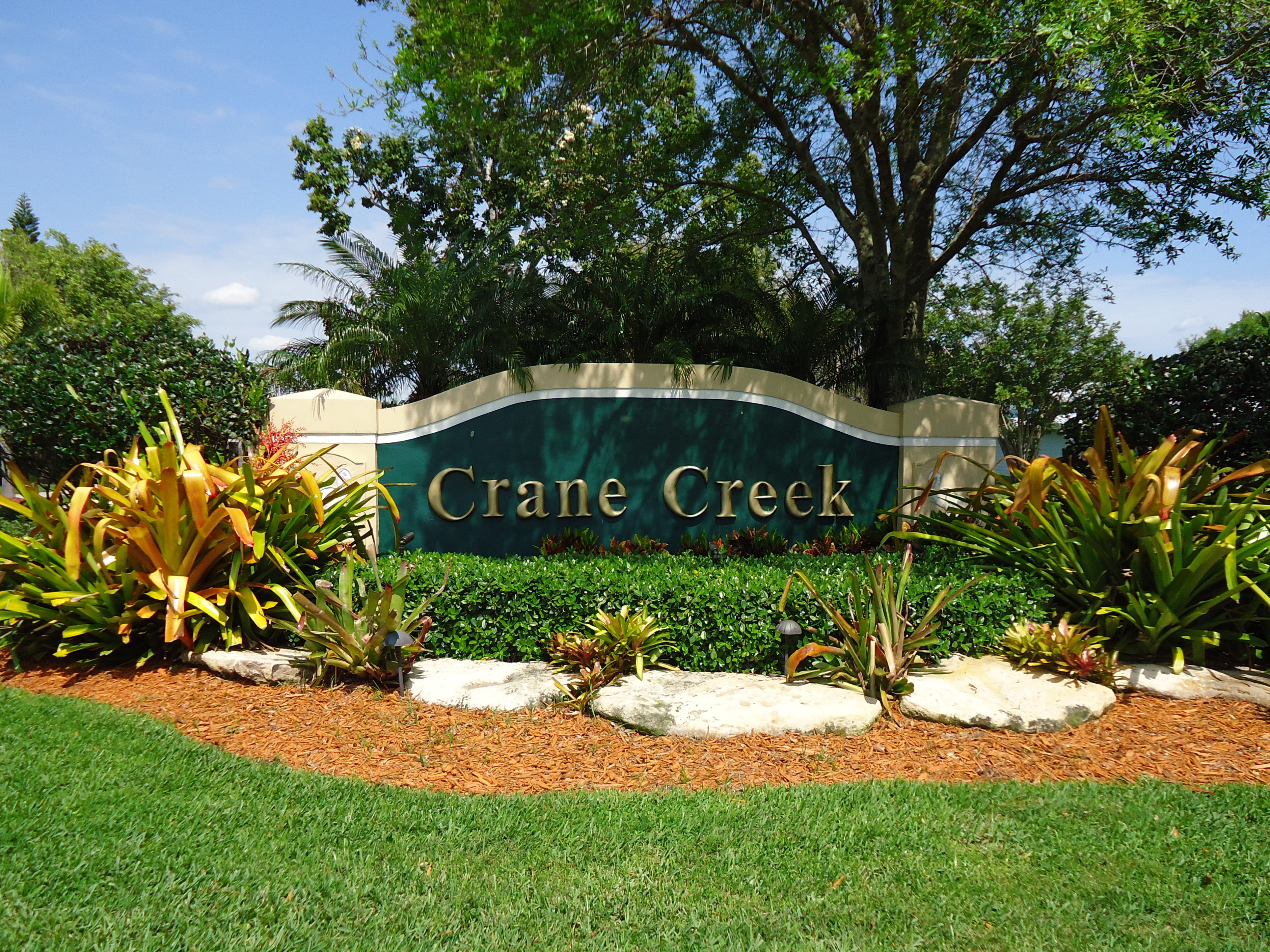 Crane Creek neighborhood sign