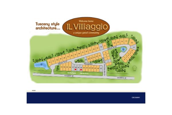 IL Villaggio Ormond Beach FL Homes and Site Plan
