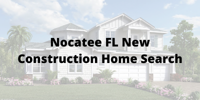 Nocatee FL New Construction Home Search