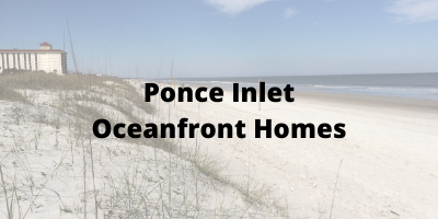 Ponce Inlet FL Oceanfront Homes For Sale