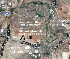 Bloomington Hills Marked Up Map - Satellite View