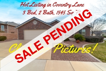 Homes For Sale in St George Utah, Coventry Lane- Pending