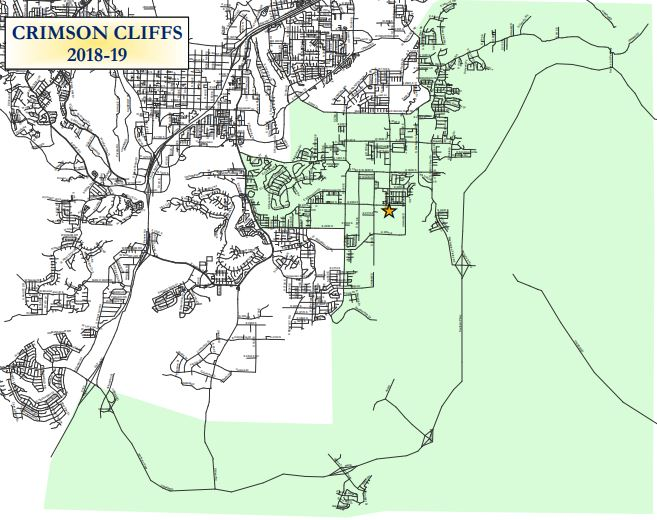 Crimson Cliffs School Boundaries