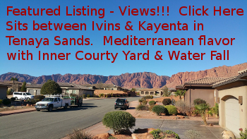 Ivins Home for Sale in Tenaya Sands subdivision, views of Kayenta Red Cliffs