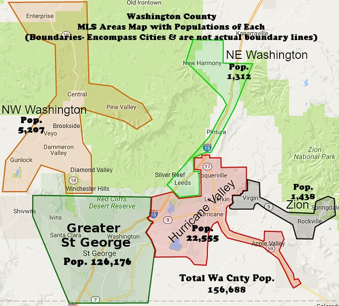Washington County MLS Areas Map