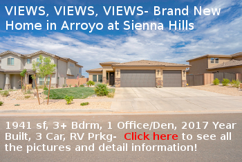 New St George Homes for Sale- Arroyo at Sienna Hills in Washington