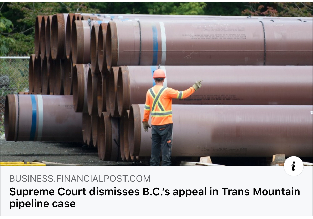 Supreme Court Trans Mountain Ruling