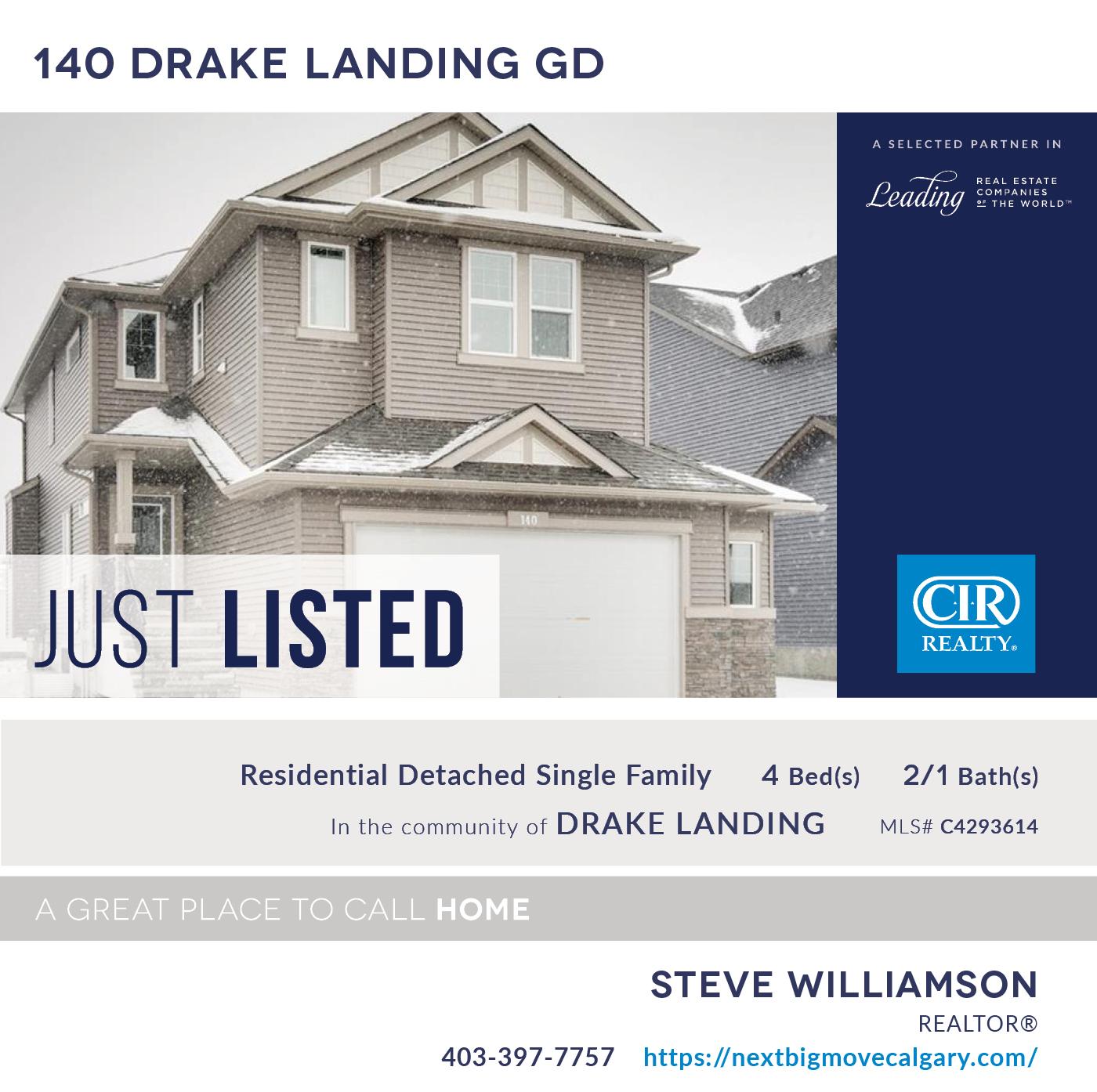 Just Listed - 140 Drake Landing Gardens Okotoks