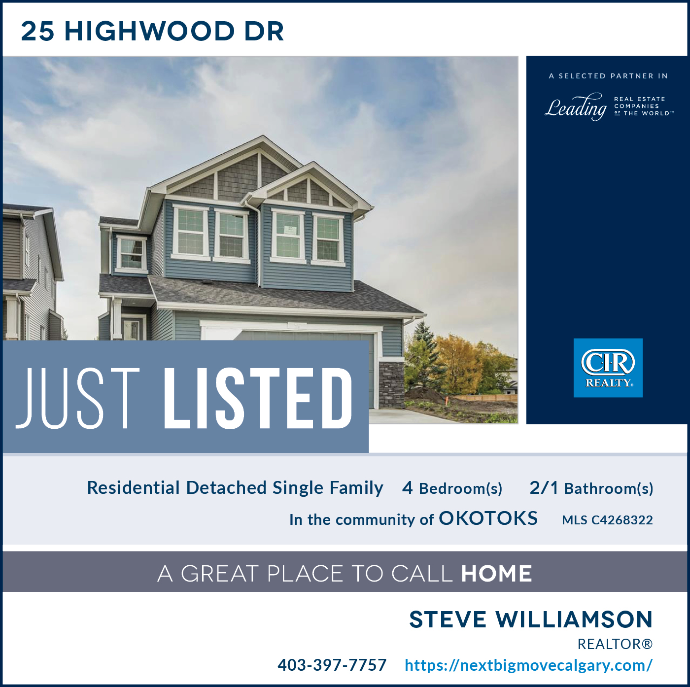 Just Listed - 25 Highwood Dr Okotoks