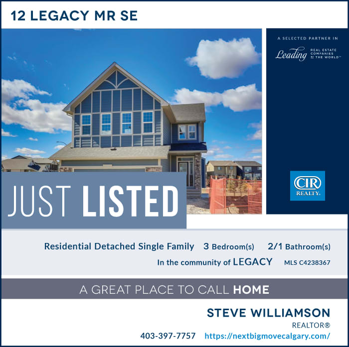 Just Listed - 12 Legacy Manor SE Calgary