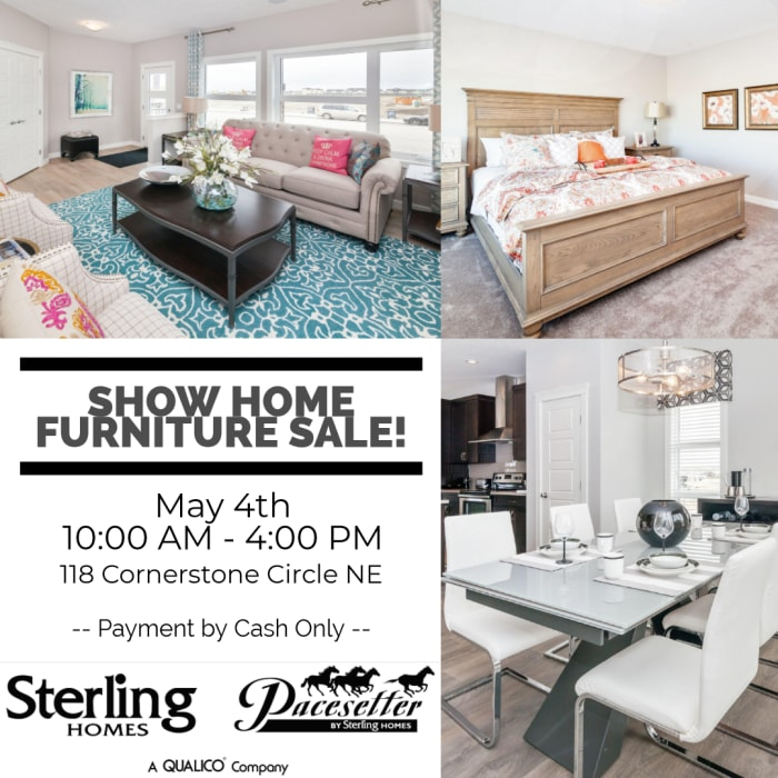 May 4th Sterling Showhome Furniture sale