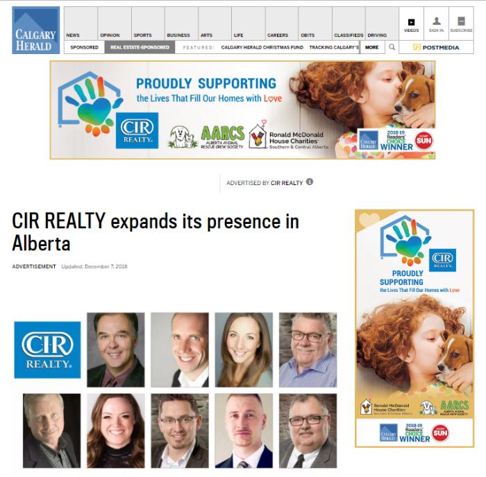 CIR - Calgary Herald Reader's Choice Awards
