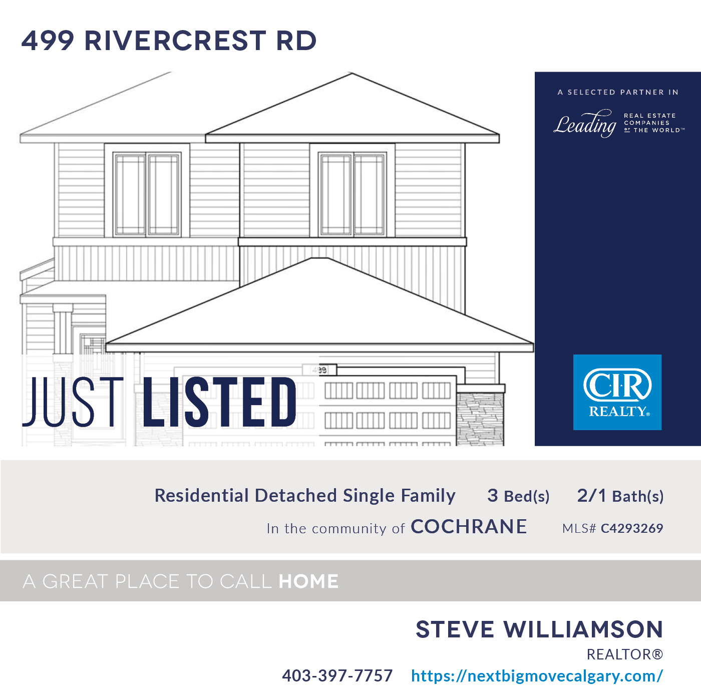 Just Listed - 499 Rivercrest Rd Cochrane