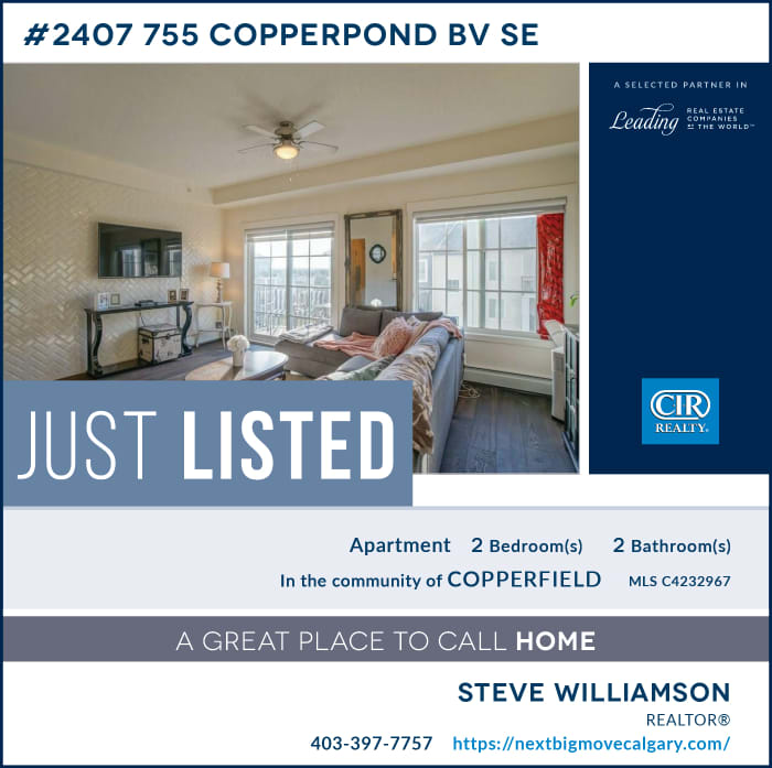Just Listed 2407, 755 Copperpond BV SE Calgary