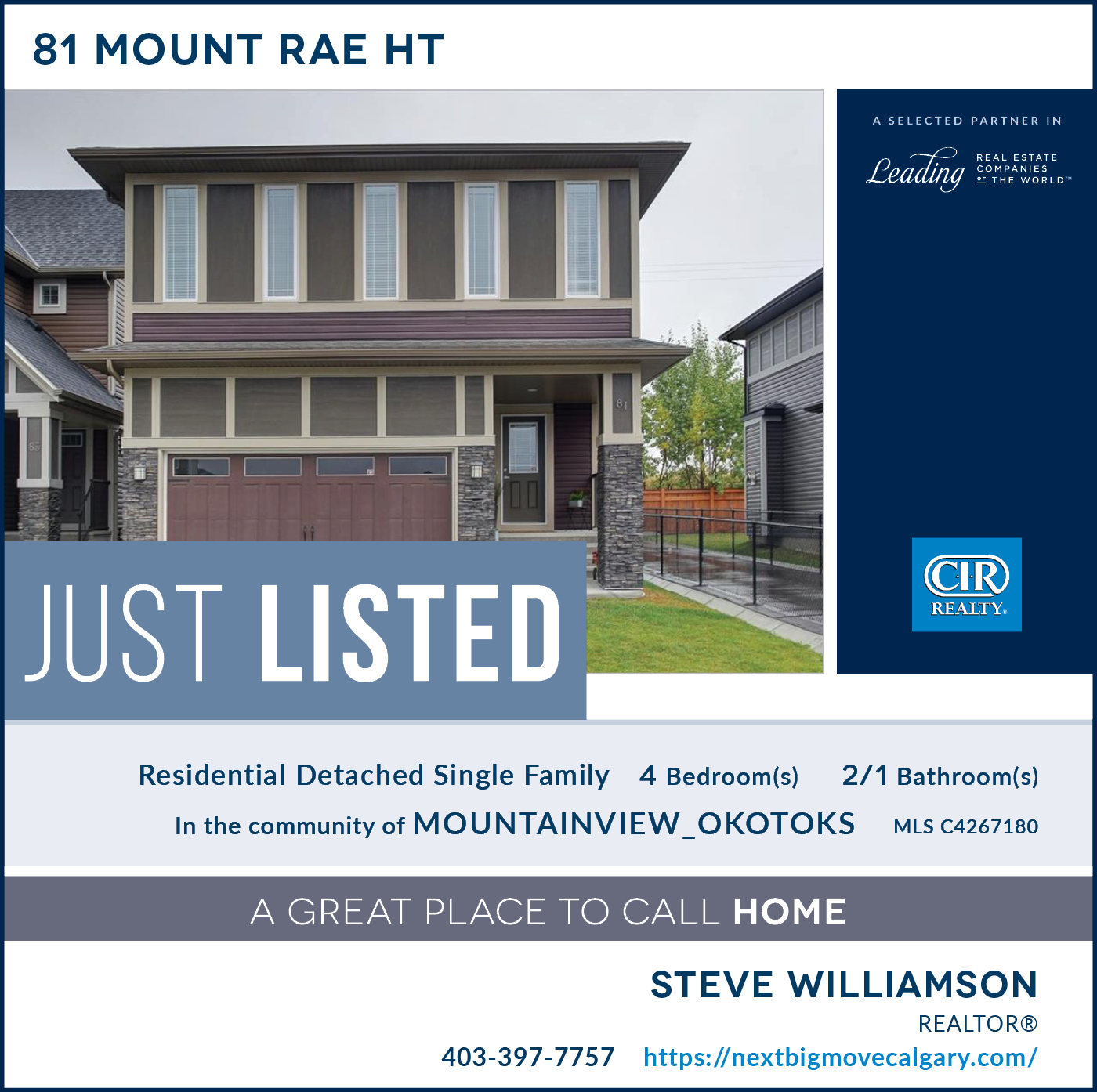 Just Listed - 81 Mt Rae Hgts Okotoks