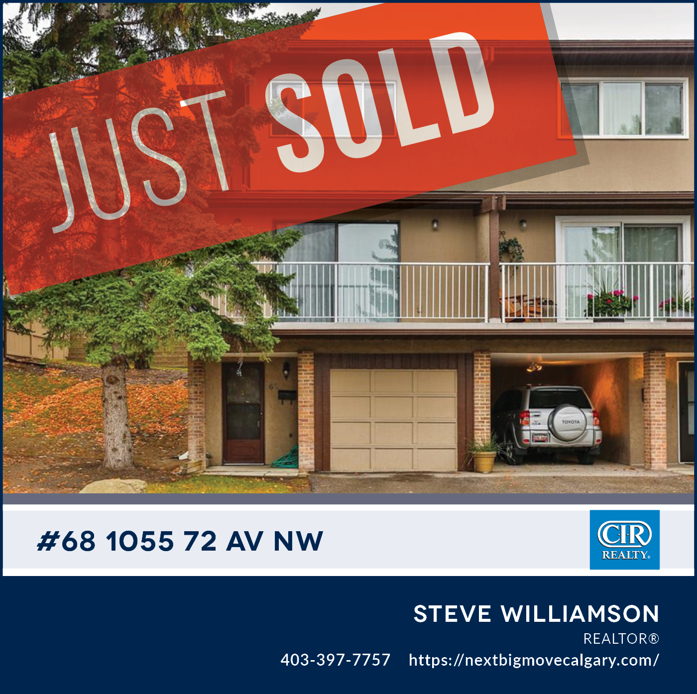 Just Sold - 68,  1055 - 2 Ave NW