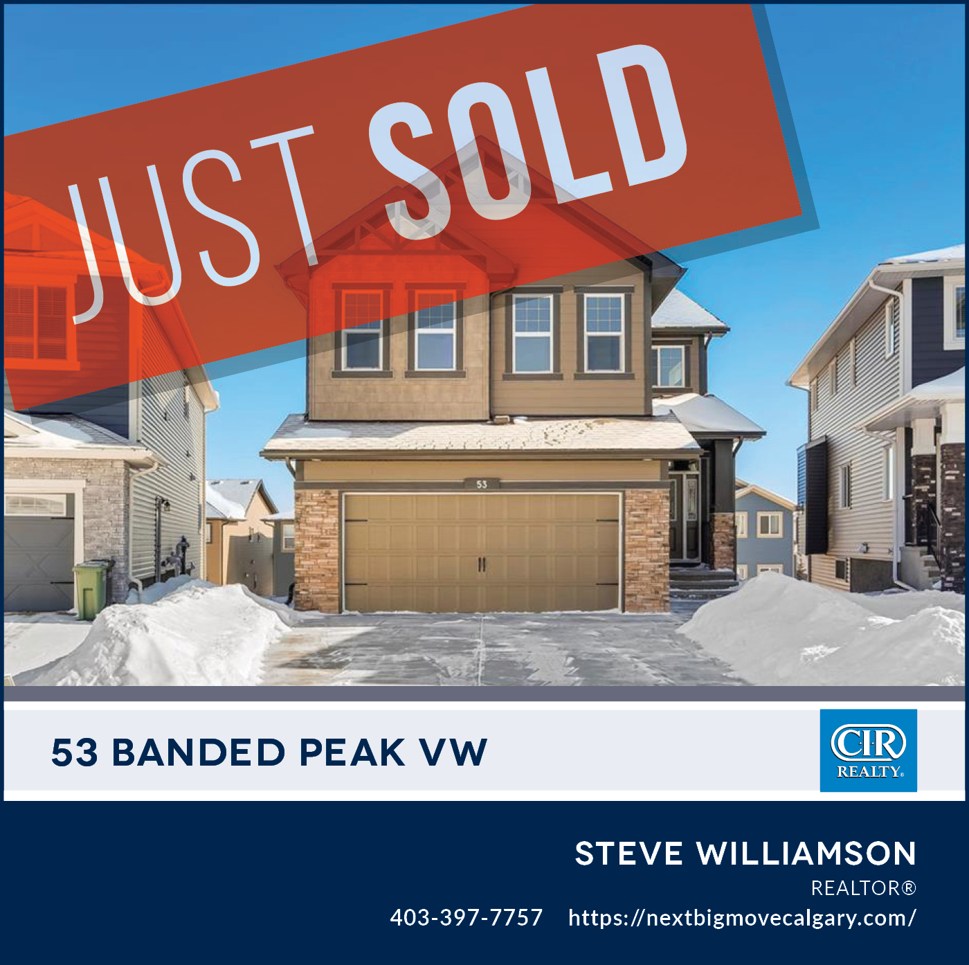 Just Sold - 53 Banded Peak View Okotoks