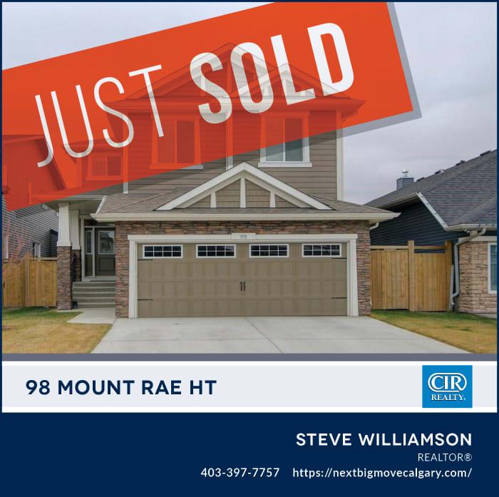 Just Sold - 98 Mt Rae Heights Okotoks