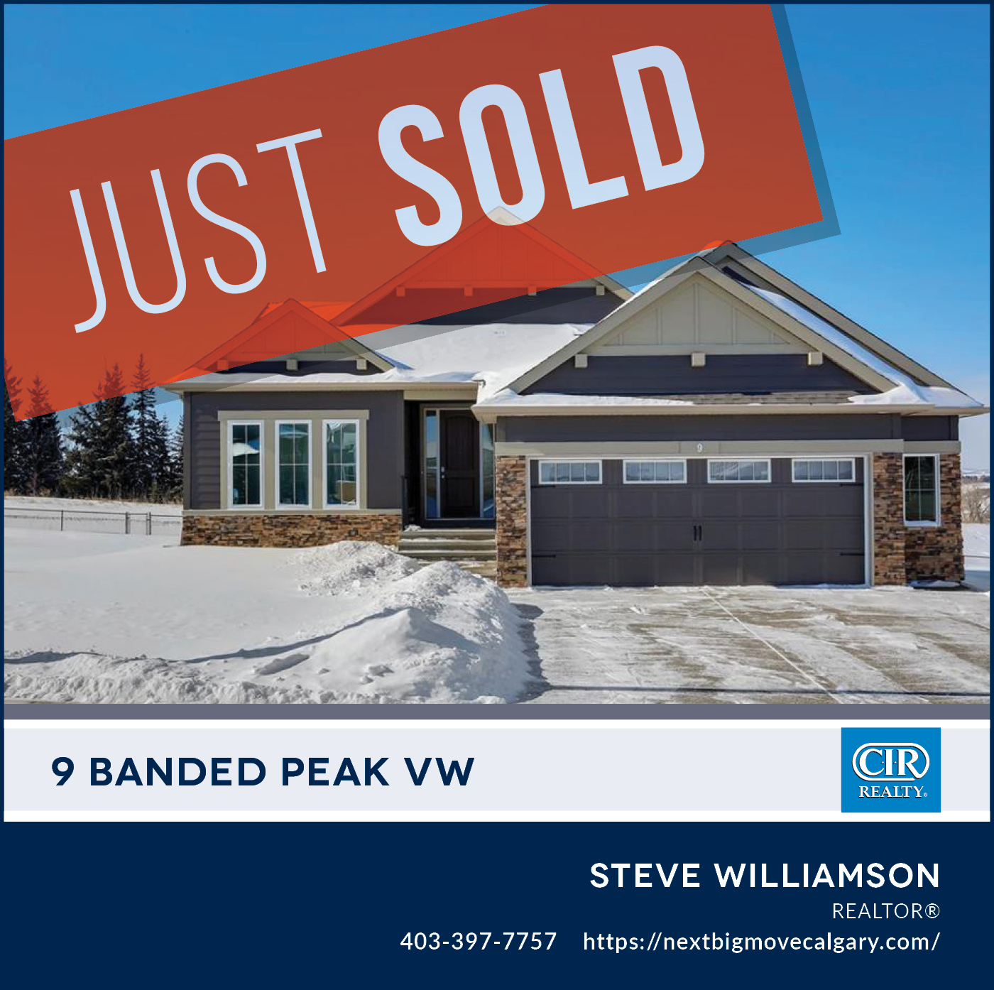 Just Sold - 9 Banded Peak View Okotoks