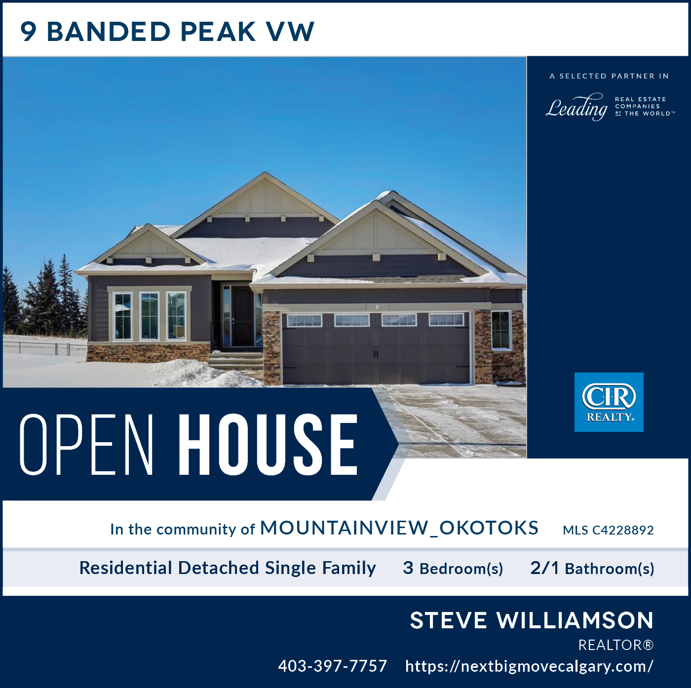 OPEN HOUSE 9 Banded Peak VW Okotoks