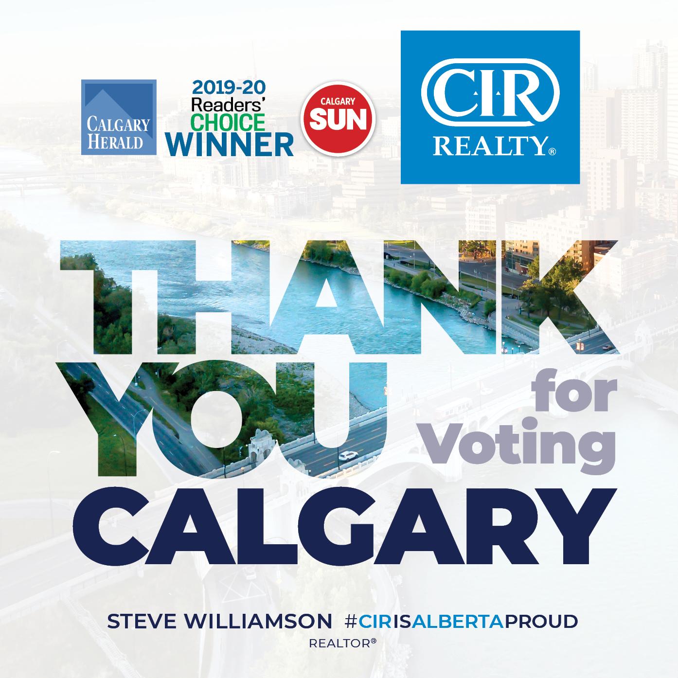 2019-2020 Calgary Herald Readers Choice Winner