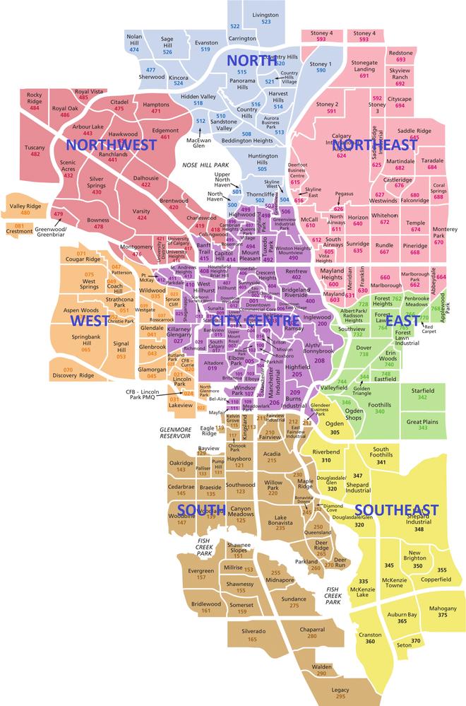 Calgary Communities Map Calgary 8 District Map | NextBigMoveCalgary   #1 source for