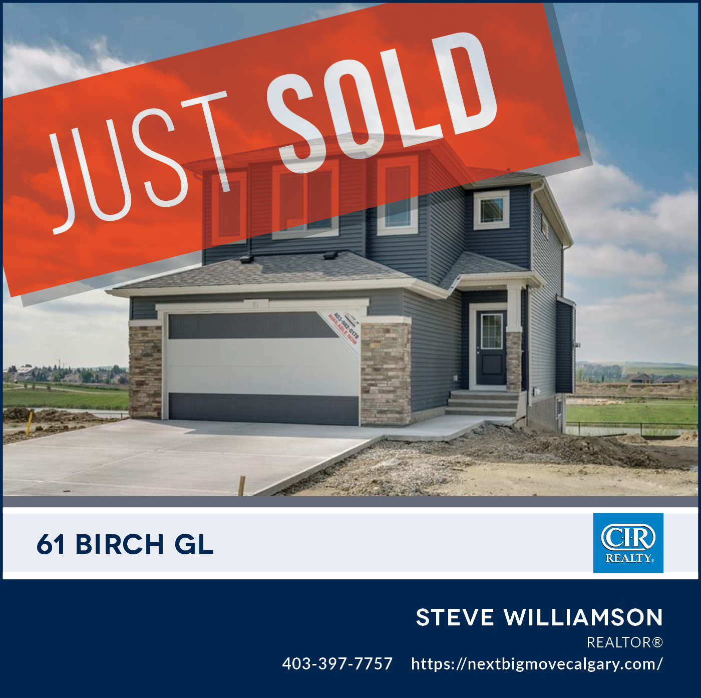 Just Sold - 61 Birch Glen Okotoks