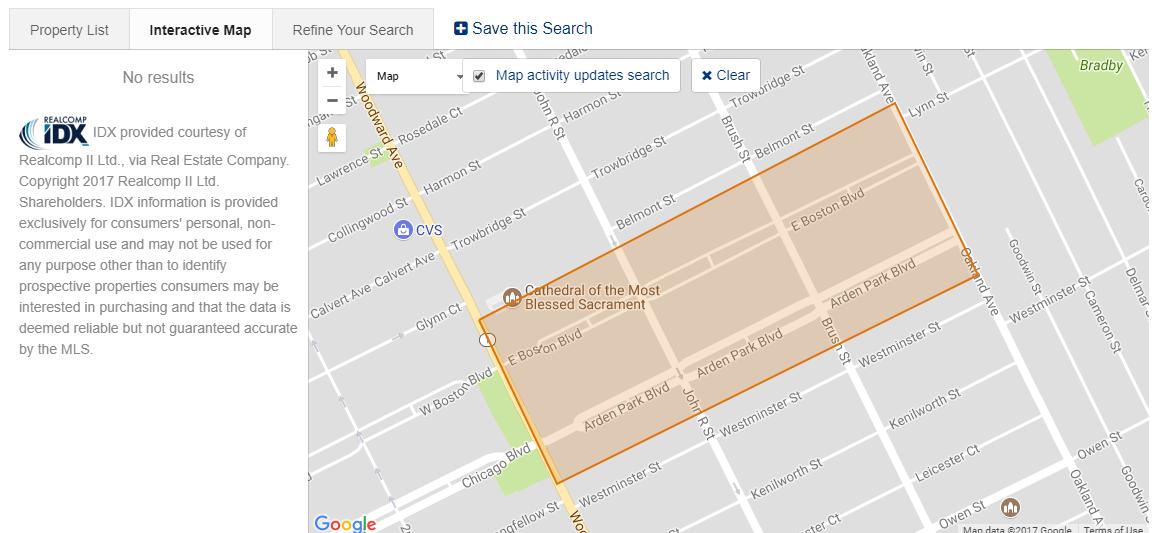 Arden Park Map