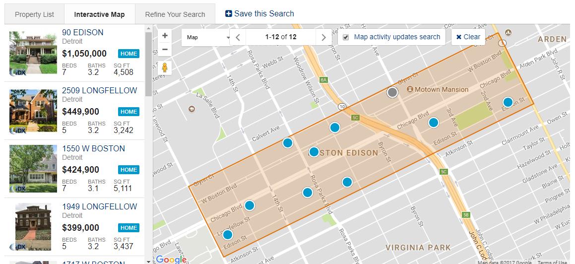 Boston Edison Map