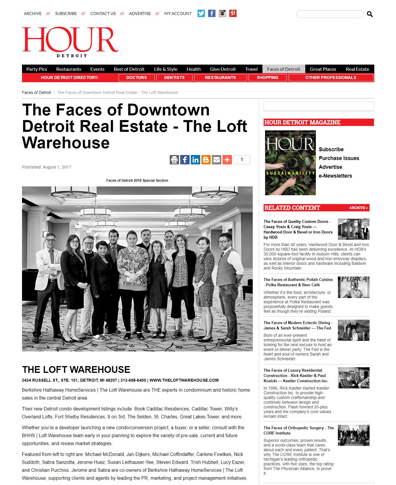 HOUR Detroit - Faces of 2018