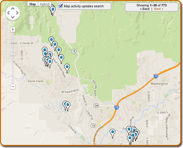 St George Real Estate Map Search