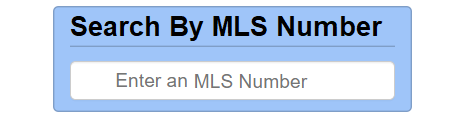 Search By MLS Number