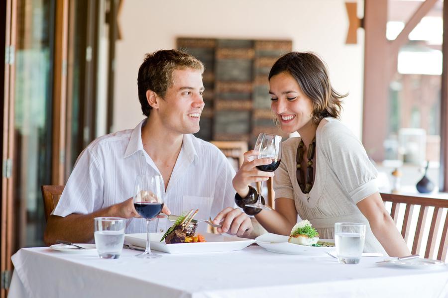 Enjoy fine dining on Ladue real estate at Truffles.