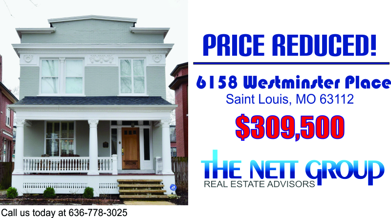 Price Reduced! 6158 Westminster Place, Saint Louis, MO 63112