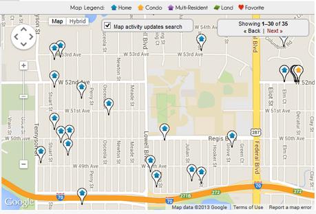 Map Search Regis