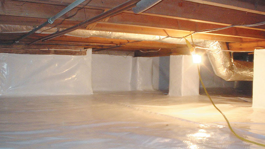 sealed crawlspace