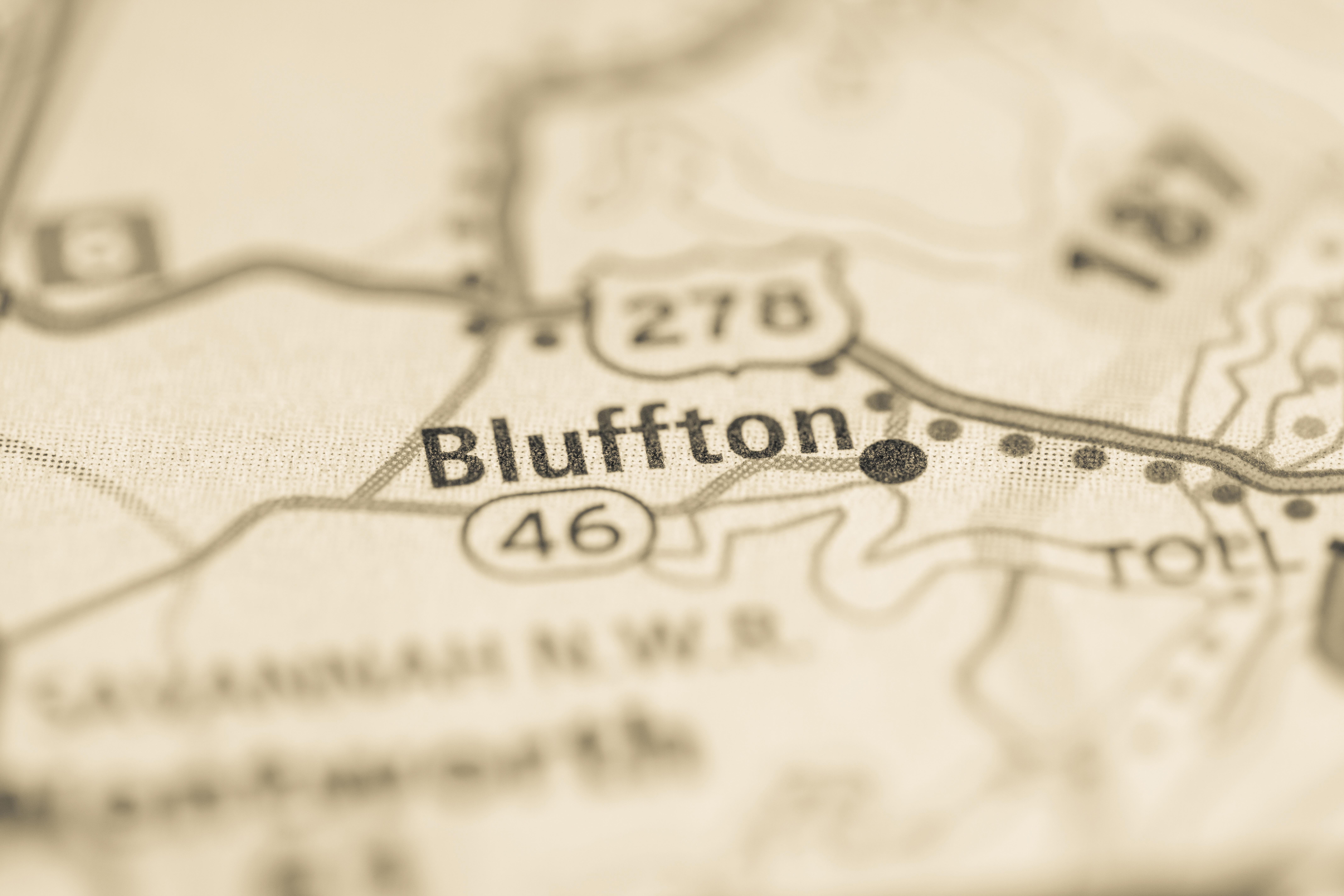 Bluffton SC map