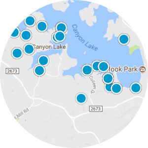Cordova on Canyon Lake Real Estate Map Search