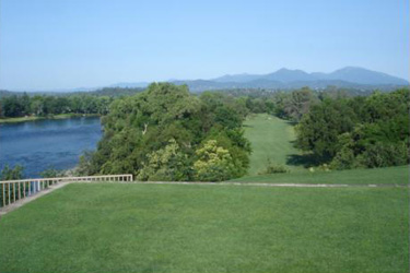 Riverview Country Club, #1 tee overlooking the Sacramento River and Mountains beyond - Redding CA