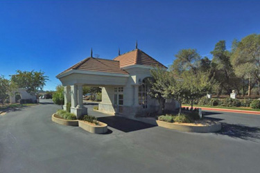 The entrance at Stanford Hills, a gated community in Redding CA